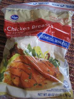 frozen chicken in a bag