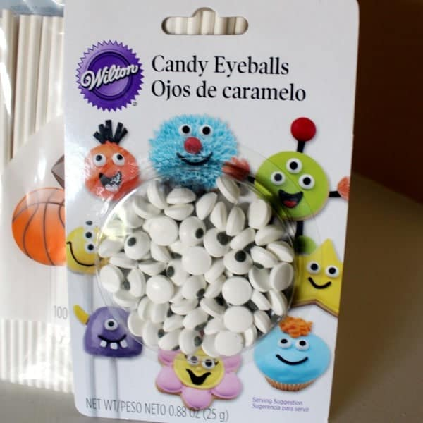candy eyeballs in their package