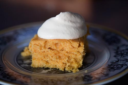 Pumpkin Cake with Whiskey Whipped Cream by The Pioneer Woman