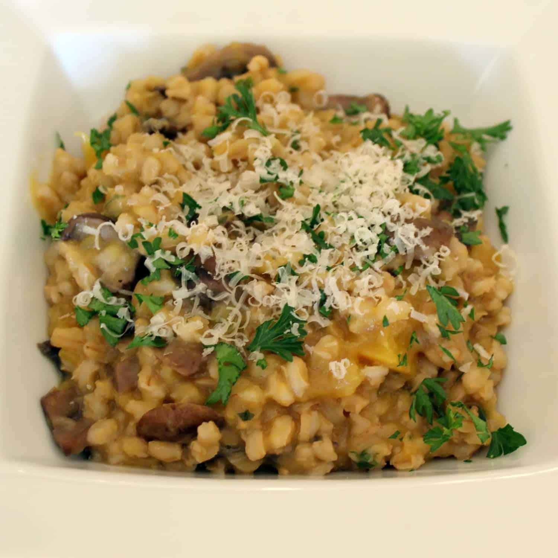 Pot Cooking Party: Slow Cooker Mushroom and Fall Squash Barley Risotto ...