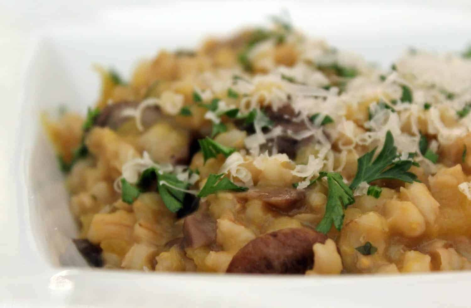 Pot Cooking Party: Slow Cooker Mushroom and Fall Squash Barley Risotto ...