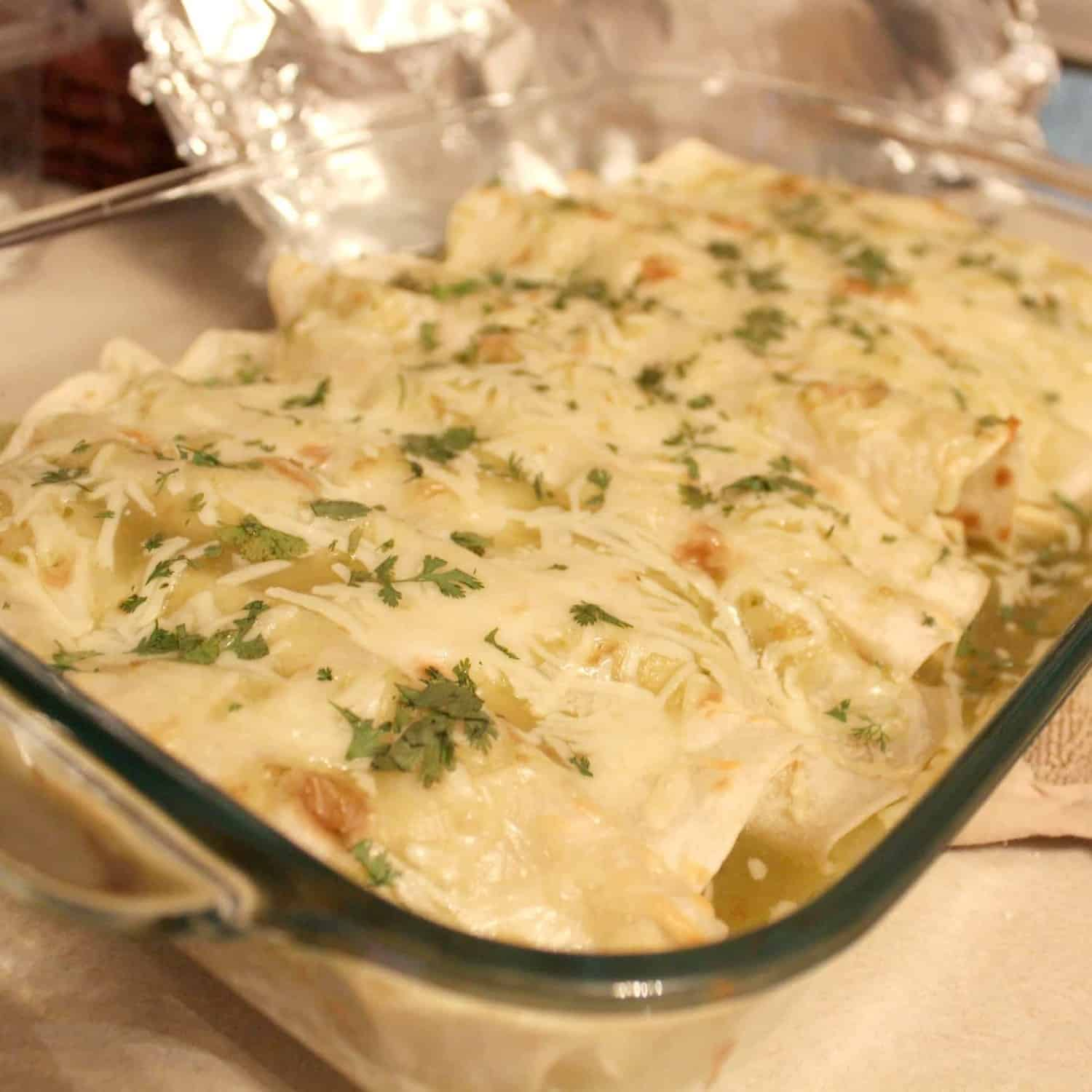 Mexican Chicken Enchiladas Verdes chicken enchiladas verde - rachel ...
