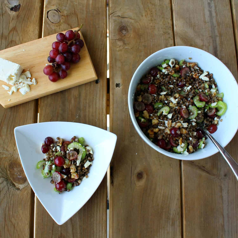 Lentil And Feta Cheese Salad Recipe — Dishmaps