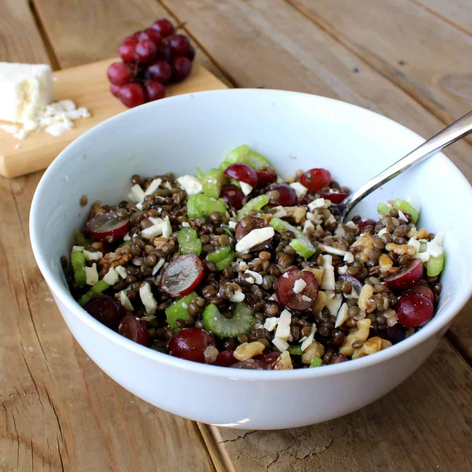 Lentil Salad with Grapes and Feta - Rachel Cooks