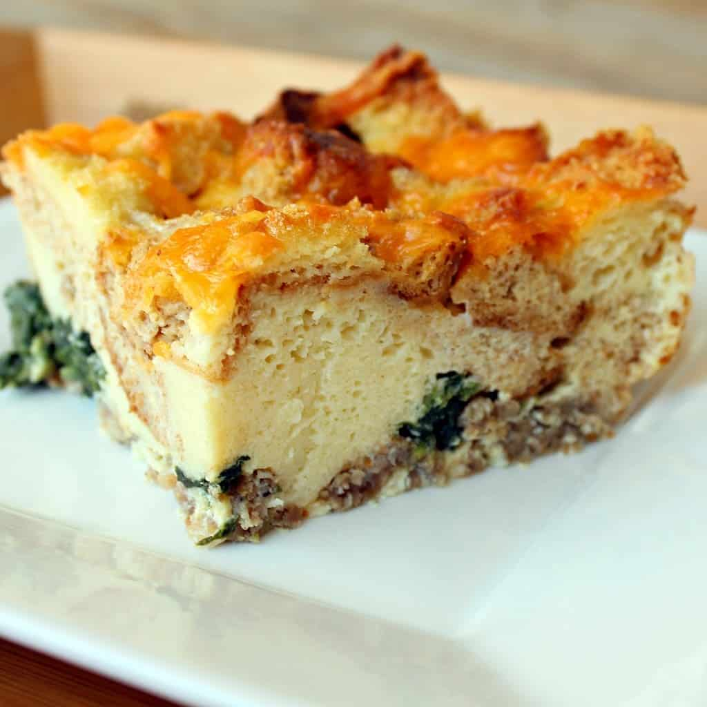 Breakfast Cassorle: Breakfast Casserole With Sausage And Spinach