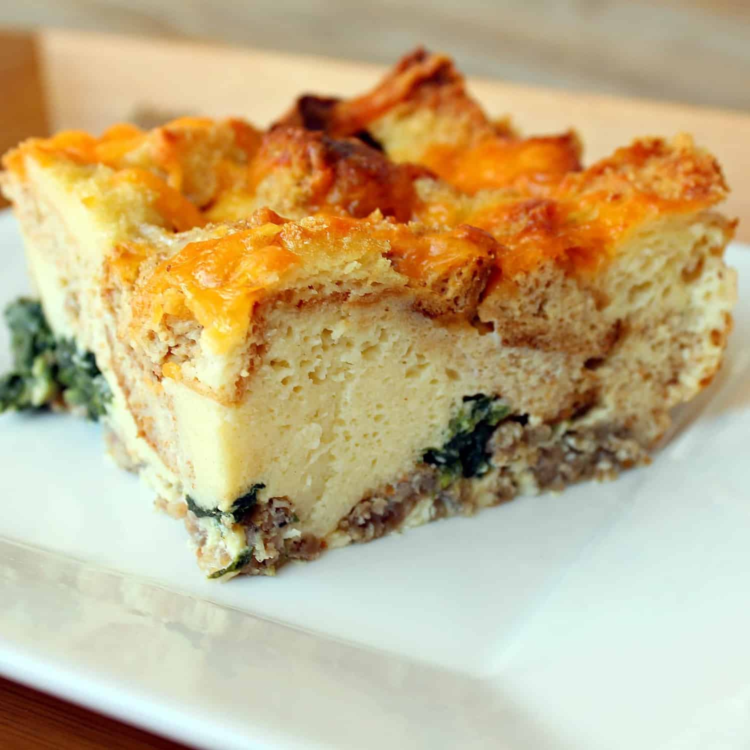 Breakfast Casserole with Sausage and Spinach - Rachel Cooks