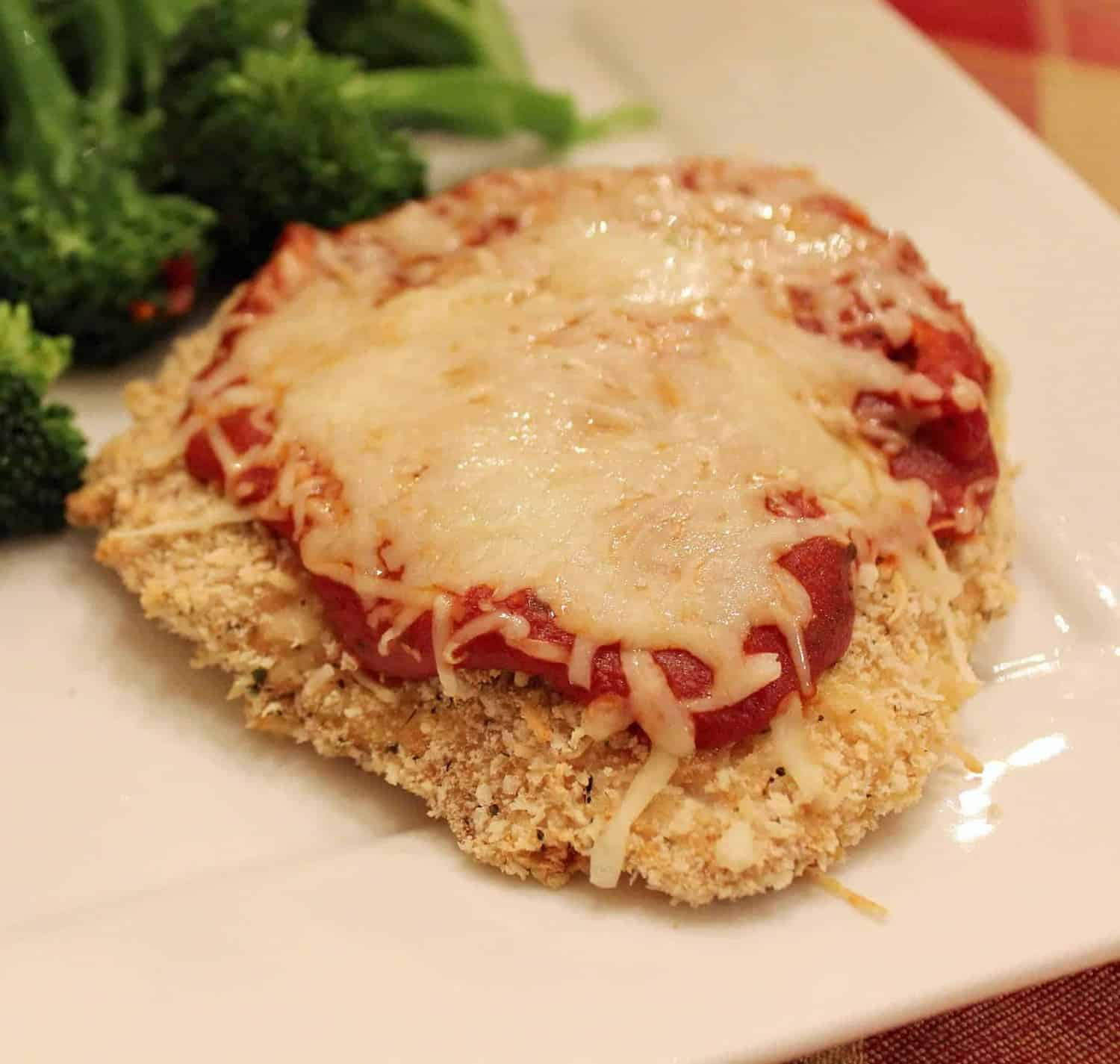 Lightened-Up Chicken Parmesan {Secret Recipe Club
