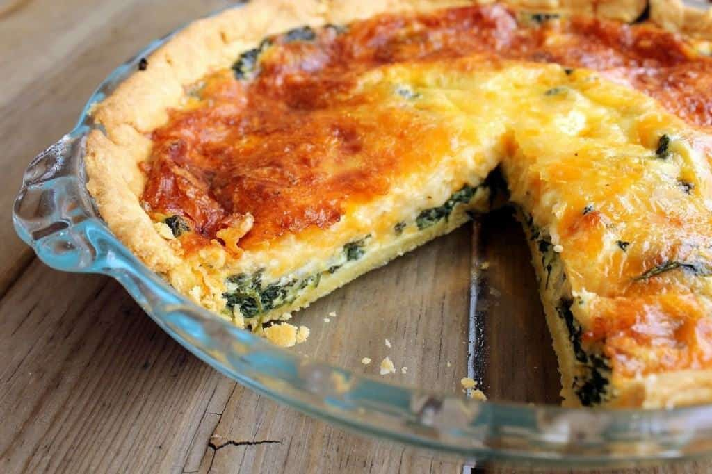 Spinach Quiche with a Cornmeal Crust - Rachel Cooks
