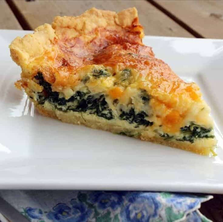 Spinach Quiche With Cornmeal Crust Rachel Cooks