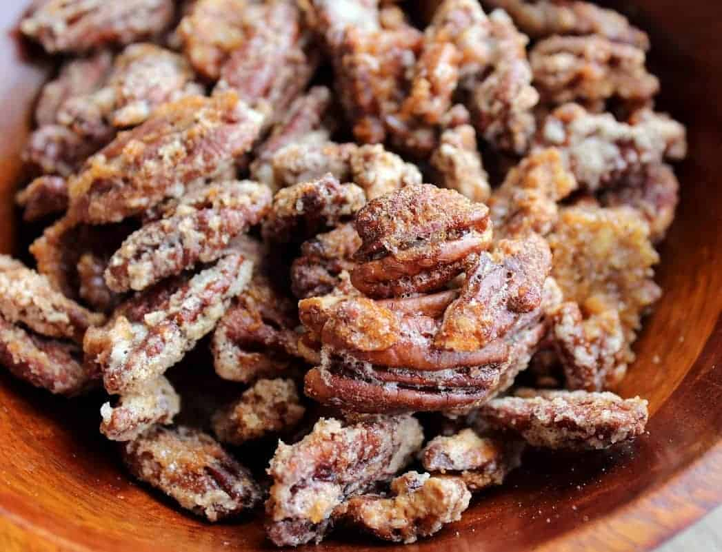 Sugar. Bourbon. Pecans. These bourbon pecans are dangerously good ...