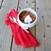 The quinoa in this vegetarian quinoa chili provides the perfect meaty texture, without the meat. It's easy to make, healthy and oh so satisfying. Get the healthy recipe on RachelCooks.com!
