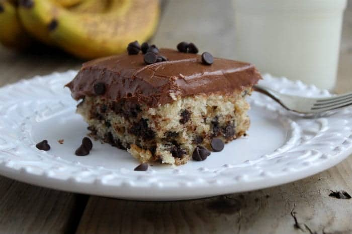 Banana Chocolate Chip Cake with Chocolate Cream Cheese Frosting ...