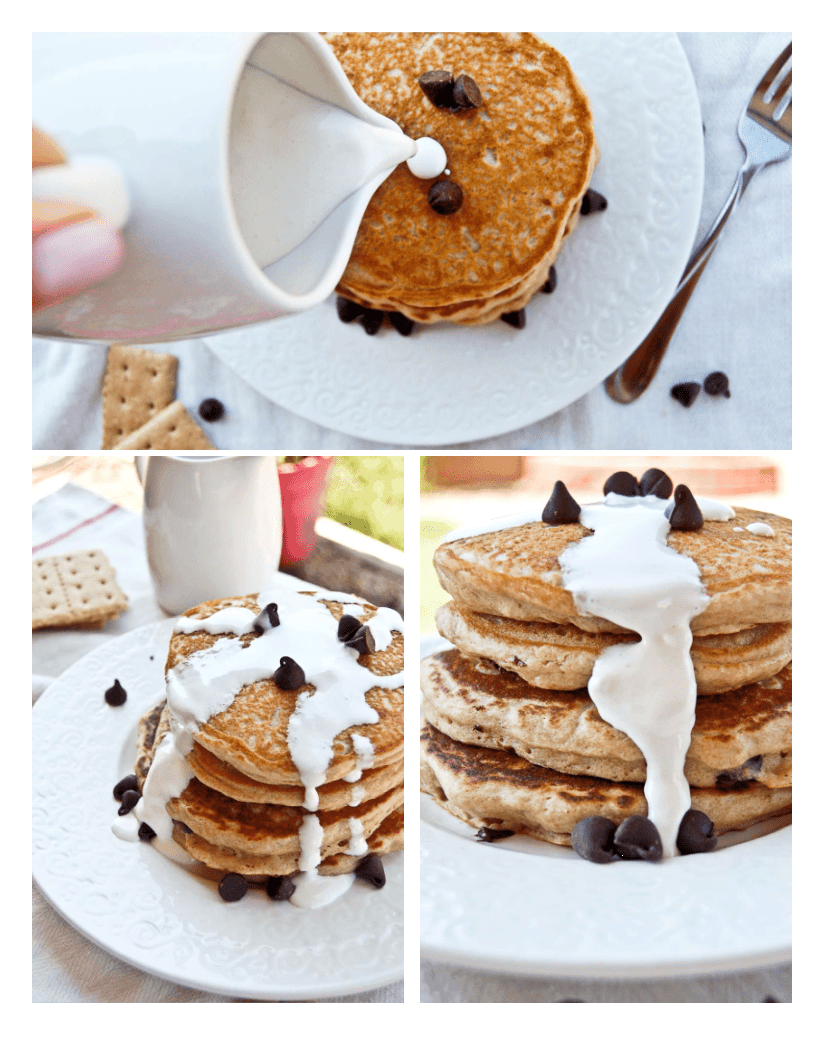 to s mores pancakes nutella stuffed deep dish pancakes are definitely ...