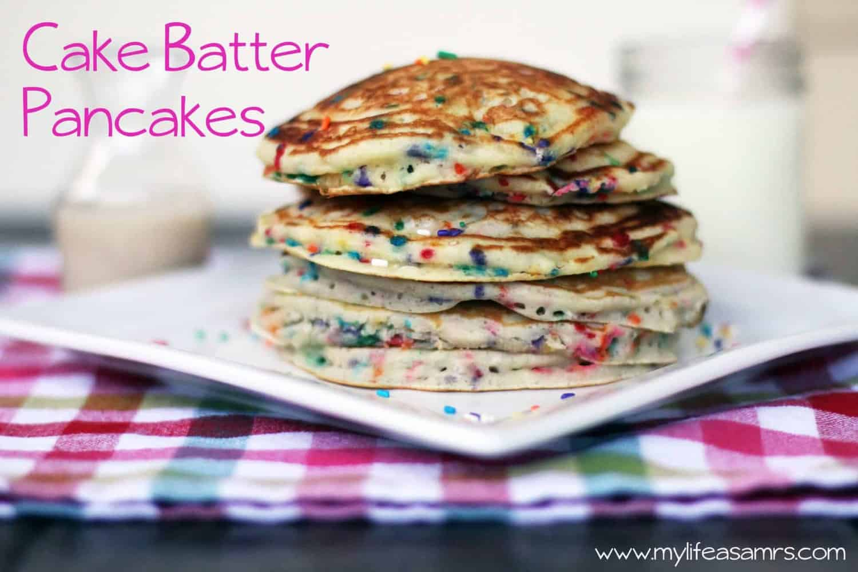 Cake Batter Pancakes Recipe — Dishmaps