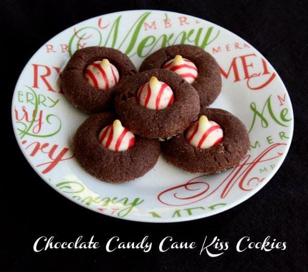Chocolate Candy Cane Kiss Cookies - Rachel Cooks