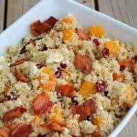 Autumn Quinoa Salad with Maple Mustard Vinaigrette