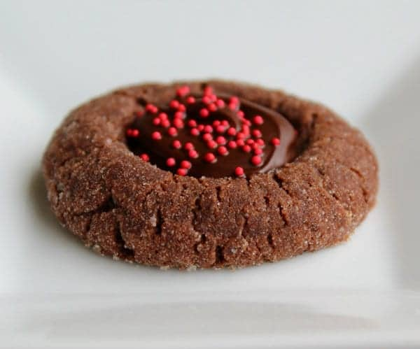 These chocolate cherry thumbprint cookies have a moist, chocolatey cookie base with a smooth cherry filling. Get the recipe that's perfect for Christmas on RachelCooks.com!