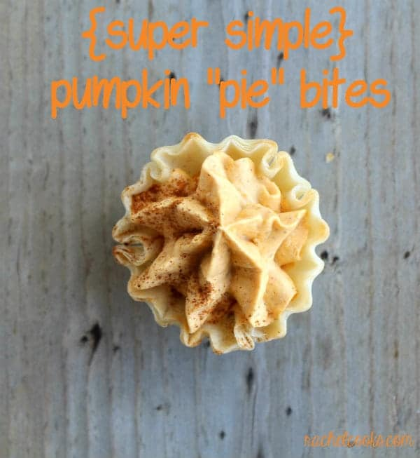 These mini pumpkin tarts are a quick and easy no-bake treat. They're the perfect last-minute dessert for any fall event, including Thanksgiving! Get the easy recipe on RachelCooks.com!