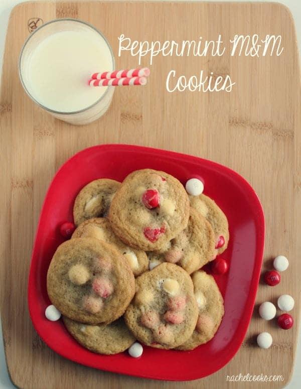 White Chocolate Peppermint M M Cookies Rachel Cooks