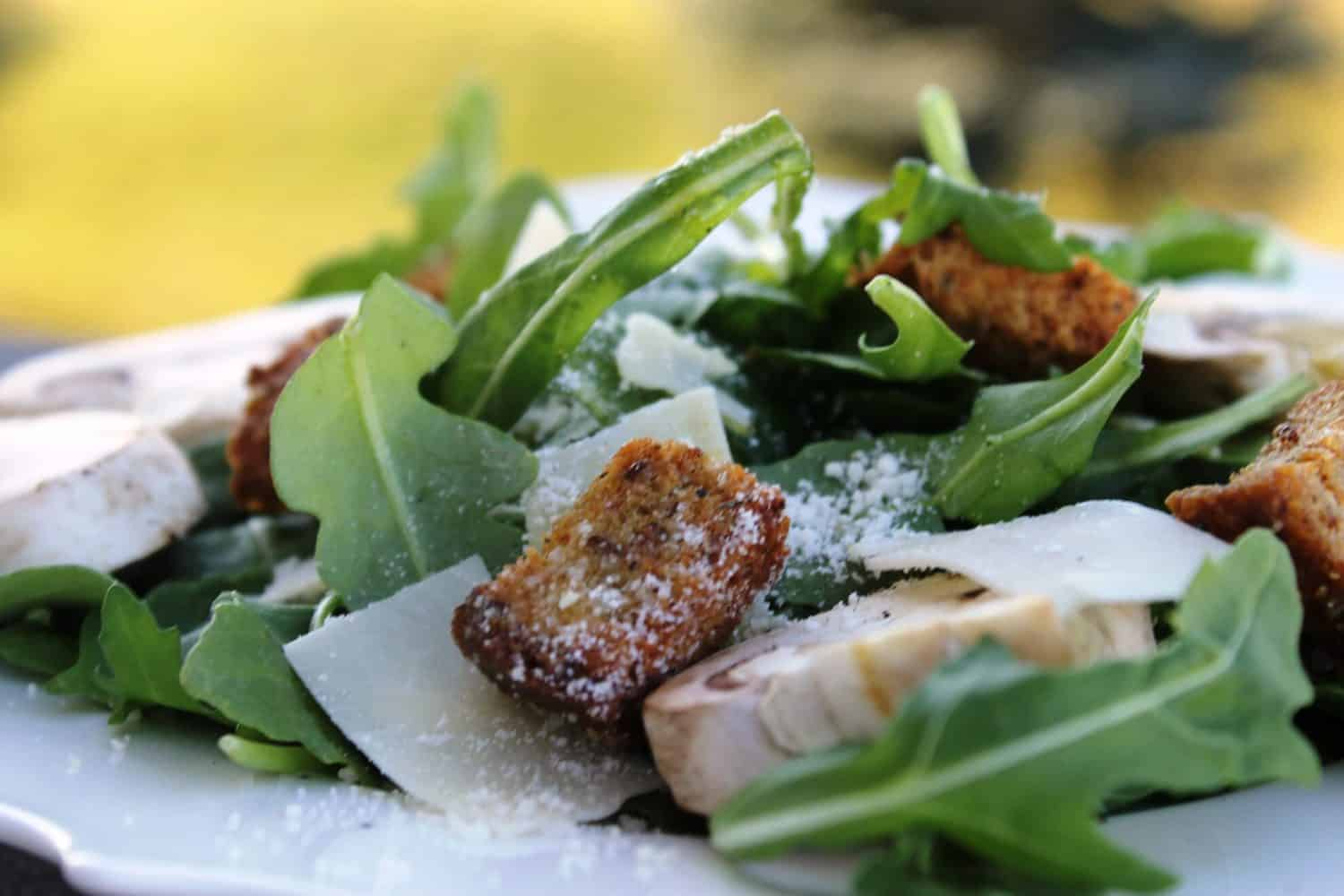 Arugula, Mushroom and Parmesan Salad {guest post} - Rachel ...