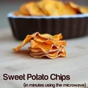 Sweet Potato Chips -- in 5 minutes!