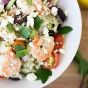 This flavorful salad will satisfy you with the Greek flavors you love including mint, lemon and parsley, tossed with orzo, it won't require fat-pants! Get the recipe on RachelCooks.com!