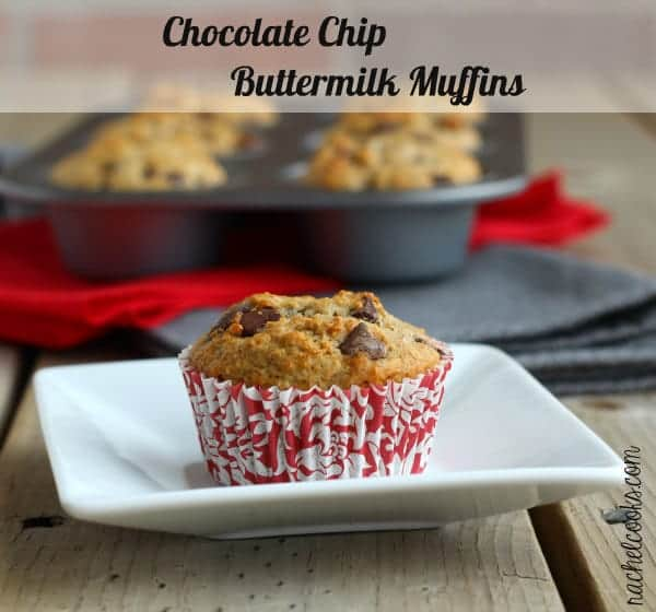 Chocolate Chip Buttermilk Muffins | RachelCooks.com