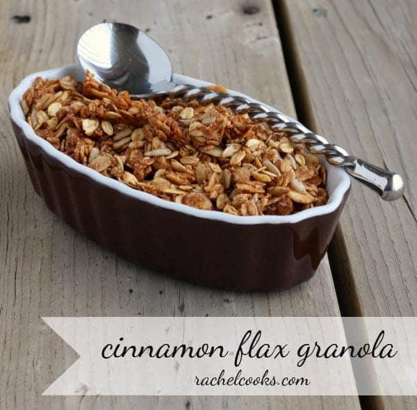 Cinnamon Flax Granola | RachelCooks.com