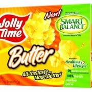 Label of Jolly TimeSmart Balance Butter Popcorn.