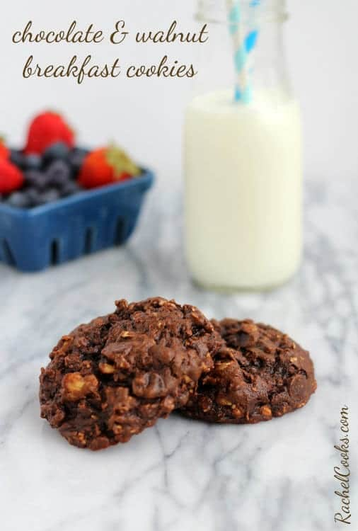 Chocolate Walnut Breakfast Cookies | RachelCooks.com