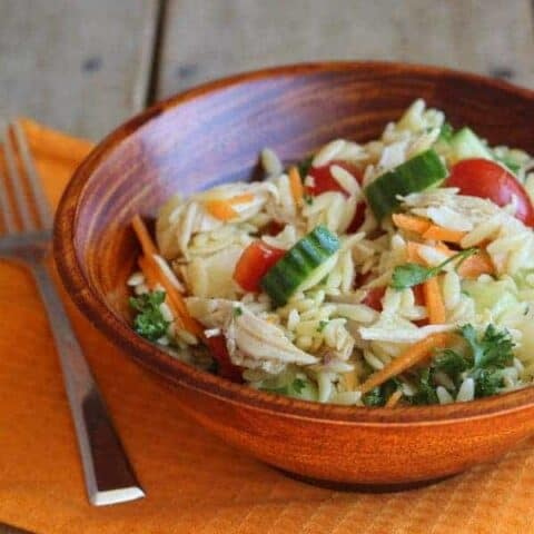 Easy Orzo Salad with Chicken | RachelCooks.com