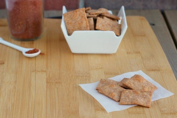Southwestern Homemade Wheat Thins - Such a great snack! Get the easy recipe on RachelCooks.com