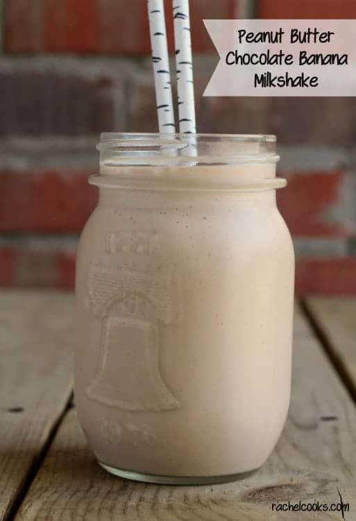 Peanut Butter Chocolate and Banana Milkshake | RachelCooks.com