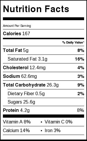 andes mint pudding pops nutrition label
