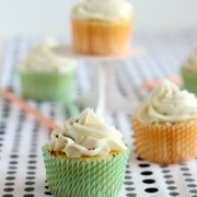 Vanilla Cupcakes with a Surprise Inside! | RachelCooks.com