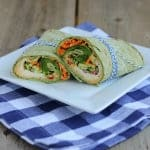 Thumbnail image for Vegetarian Wrap with Provolone and Roasted Red Pepper Hummus