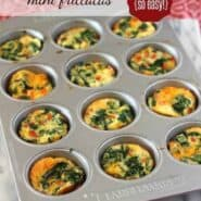 Mini Frittatas with Spinach and Red Pepper -- perfect for brunch or breakfast on-the-go! | RachelCooks.com