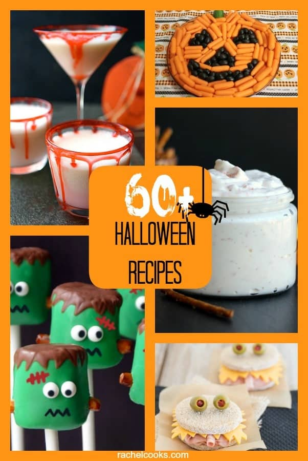 Over 60 Great Halloween Recipes {sweets, drinks, dinners & more!} | RachelCooks.com