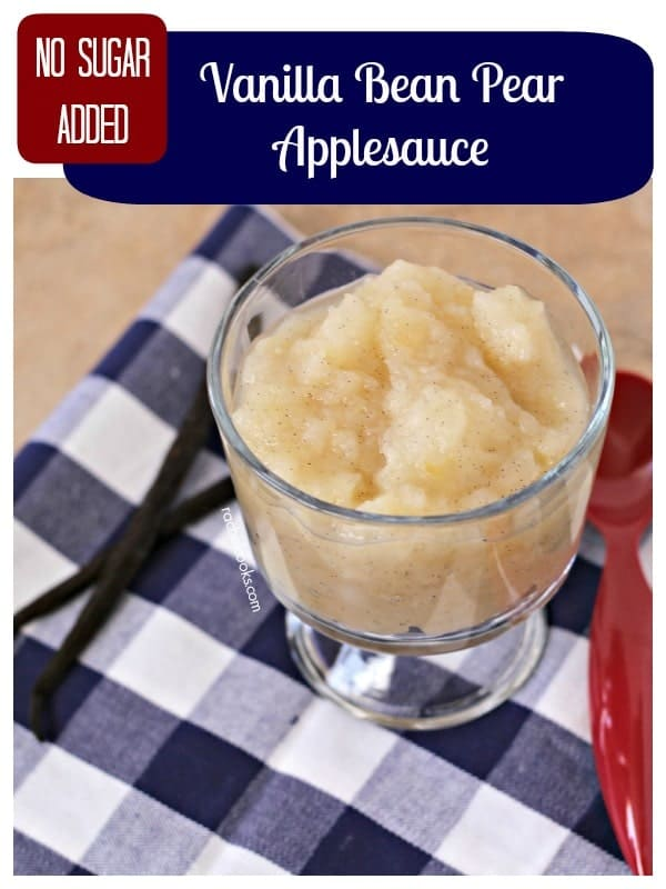 Homemade Pear Applesauce with Vanilla Beans - get the easy a flavorful side dish or dessert recipe on RachelCooks.com