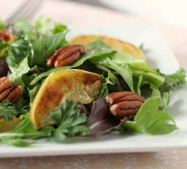 Salad with Broiled Apples and Pecans | RachelCooks.com
