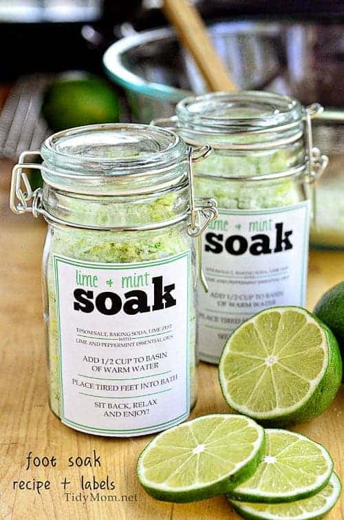 Lime and Mint Foot Soak from TidyMom.net