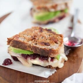Turkey and Brie Grilled Cheese from FoodieCrush.com