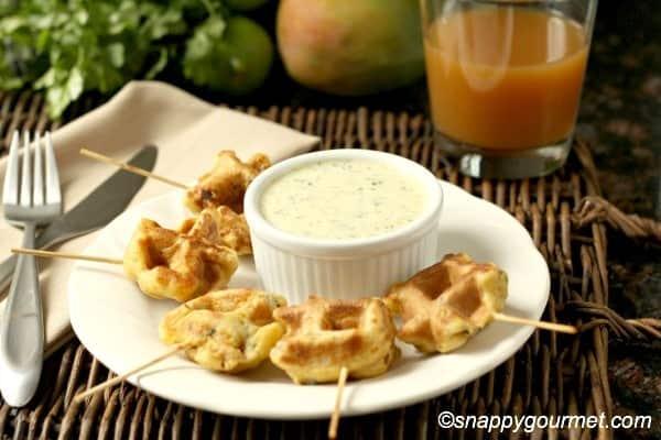 caribbean shrimp stuffed waffles