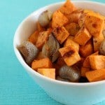 Thumbnail image for Maple Mustard Roasted Sweet Potatoes and Shallots