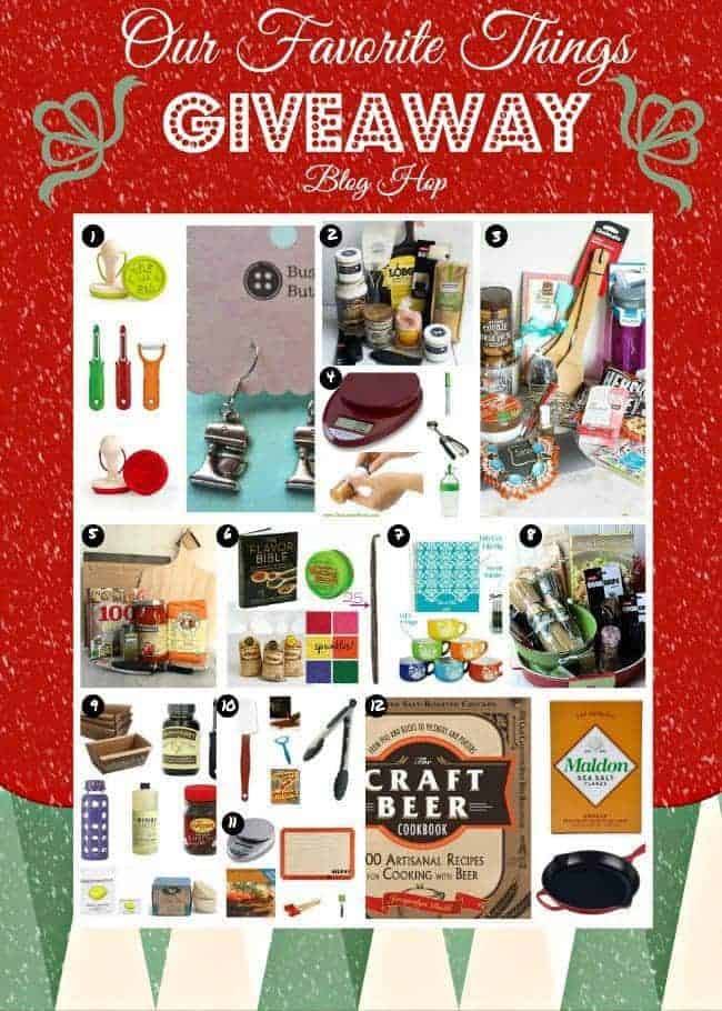 12 separate giveaways -- 12 blogger's favorite things! Each valued between $50 to $100. Enter on RachelCooks.com