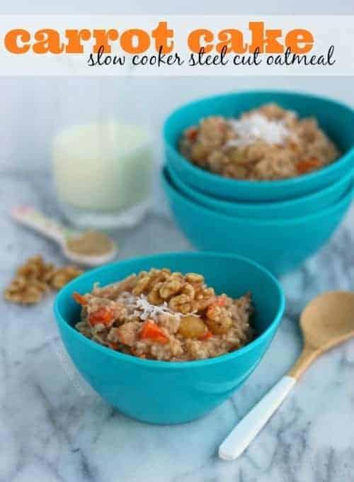 Carrot Cake Slow Cooker Oatmeal on RachelCooks.com