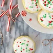 Peppermint Lofthouse Sugar Cookies on RachelCooks.com