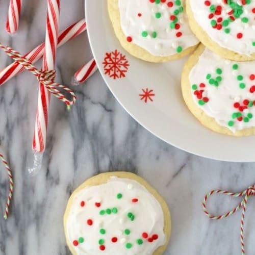 Peppermint Lofthouse Sugar Cookies on RachelCooks.com