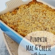 Pumpkin Macaroni and Cheese with Bacon and Caramelized Onions