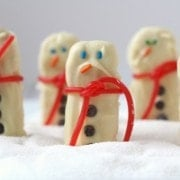 Easy Snowman Sandwich Cookies on RachelCooks.com